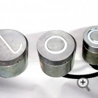 Moisture meter sensors for concrete-mixing machines