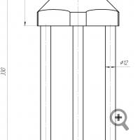 Sensor of FIZEPR-SW100.12. Outline drawing