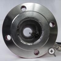 Sensor of liquid material moisture meter inside the pipe