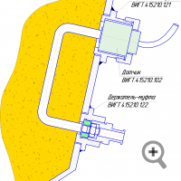 Variant of probe mounting on the pipe or tank wall